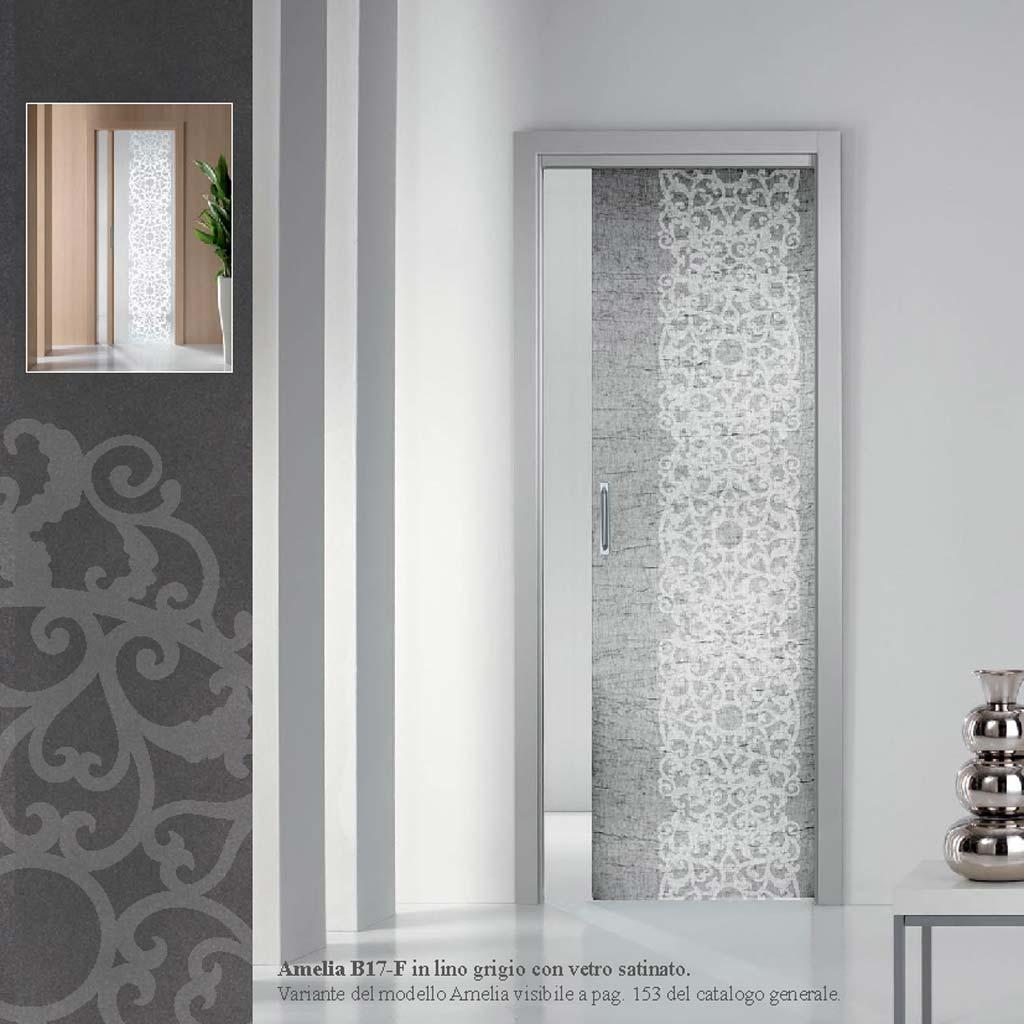 Porta scorrevole interna con vetro satinato mdb portas nurith - Porta scorrevole vetro prezzi ...