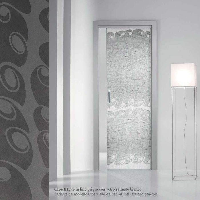 Porta scorrevole interna vetro satinato bianco mdb portas nurith - Vetro porta interna ...