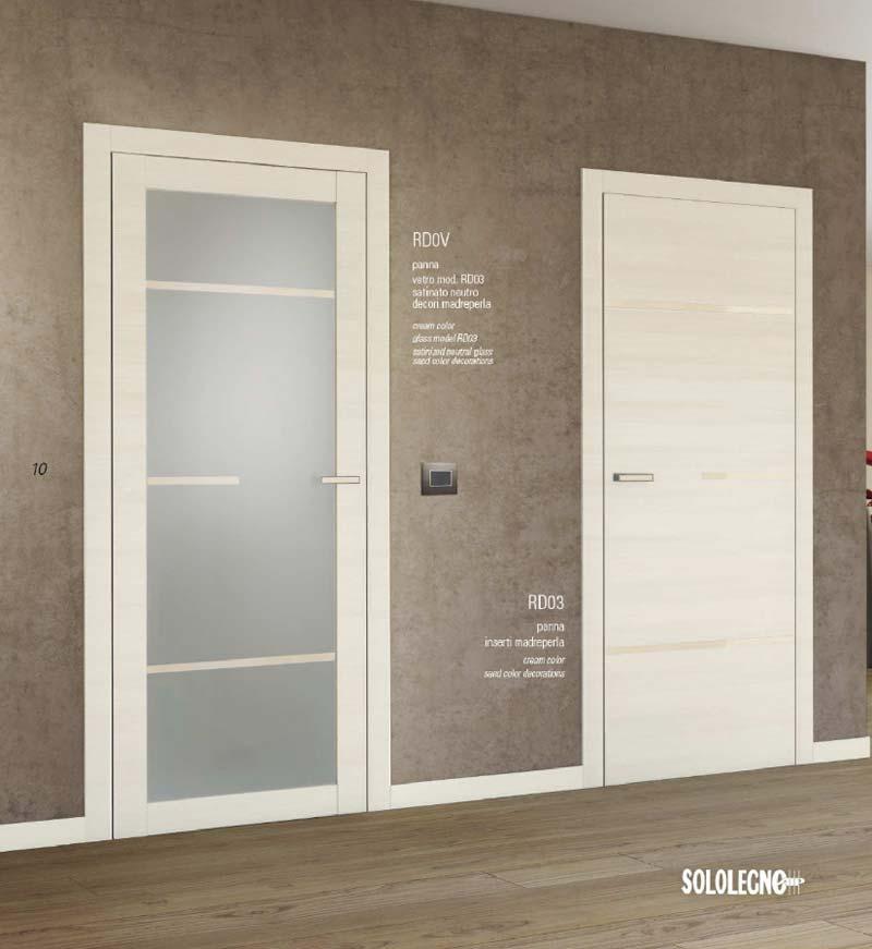 Porte interne con vetro e porta blindata su misura cesano for Porta a libro bianca con vetro
