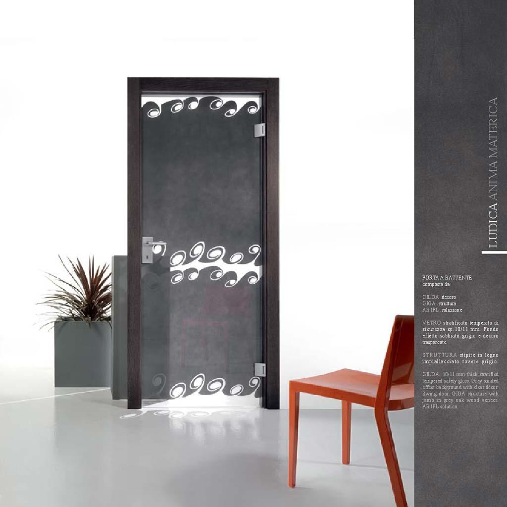 Porta decoro gilda legno impiallacciato rovere grigio mdbport - Porte interne rovere grigio ...