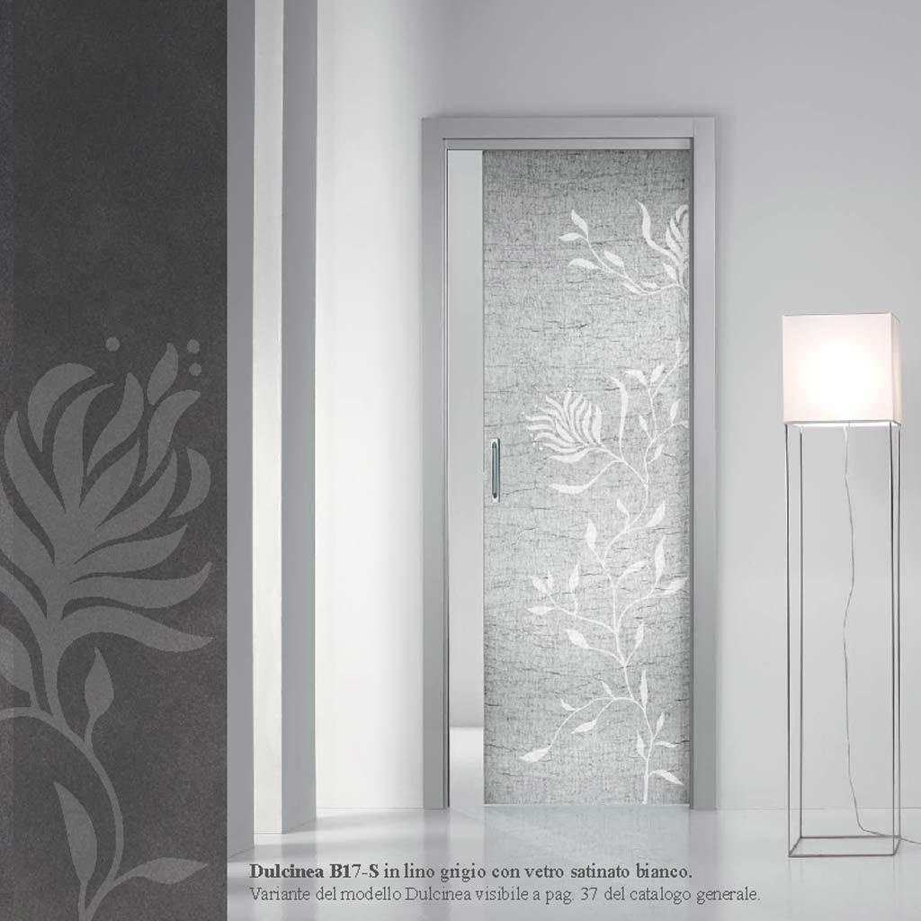 Porte Con Vetro Satinato porta dulcinea lino grigio vetro satinato bianco - mdbportas