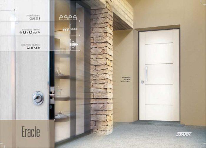 Porta blindata con pannello interno laccato bianco monza - Insonorizzare porta ...