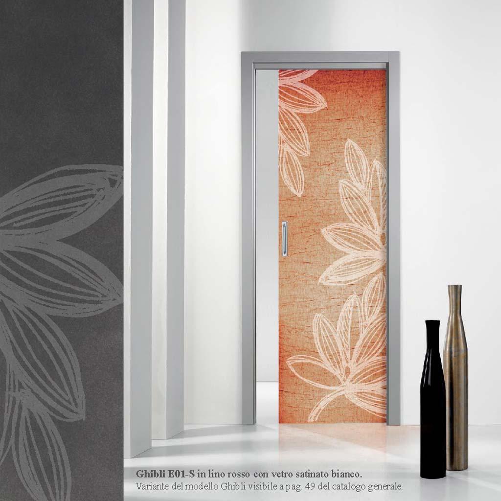 Porte interne con vetro decorato artistico mdb portas milano - Porte in legno con vetro decorato ...