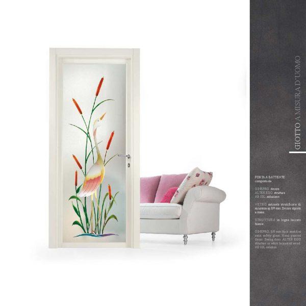 Porte interne con vetro decorato artistico MDB portas Milano | MDB ...