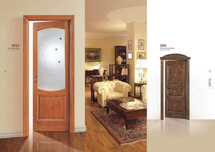 Porta interna in legno e vetro in ciliegio chiaro - MDB Portas Nurith