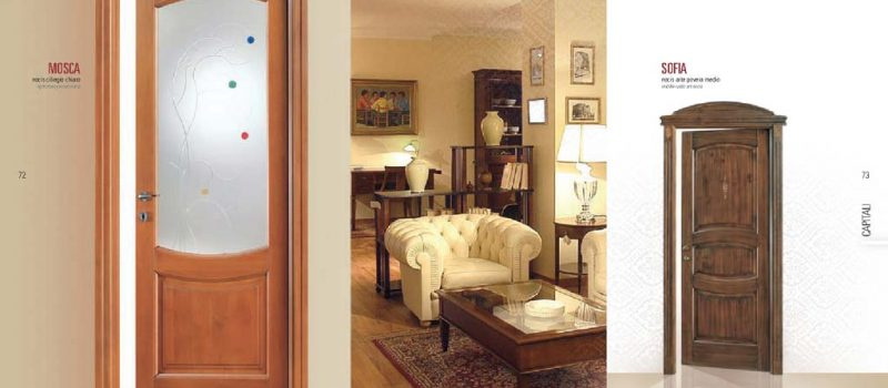 Porta interna in legno e vetro in ciliegio chiaro mdb for Mdb portas nurith