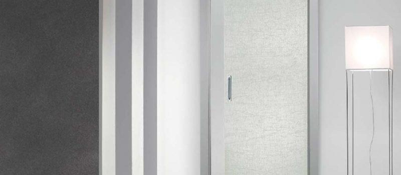 Porta scorrevole in vetro satinato bianco mdb portas for Mdb portas nurith