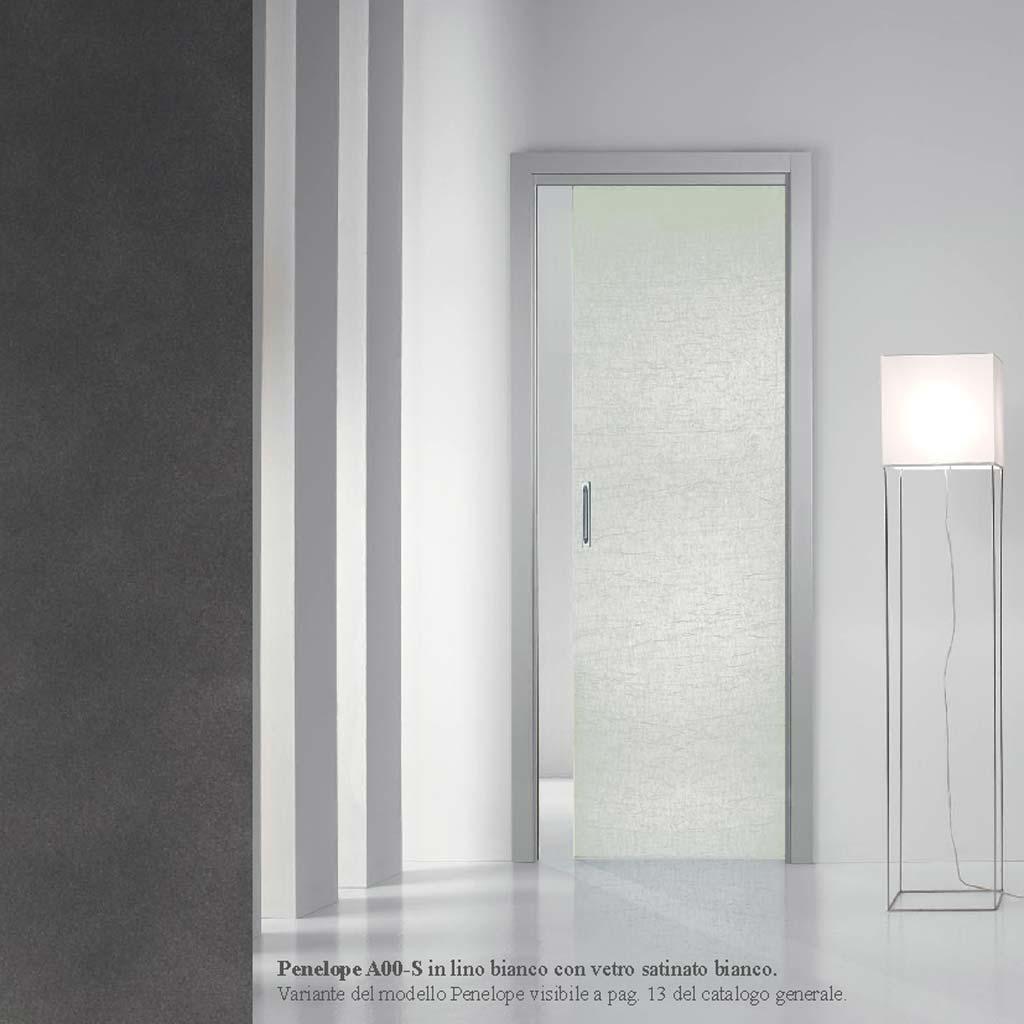 Porta Scorrevole In Vetro Satinato Bianco Mdb Portas