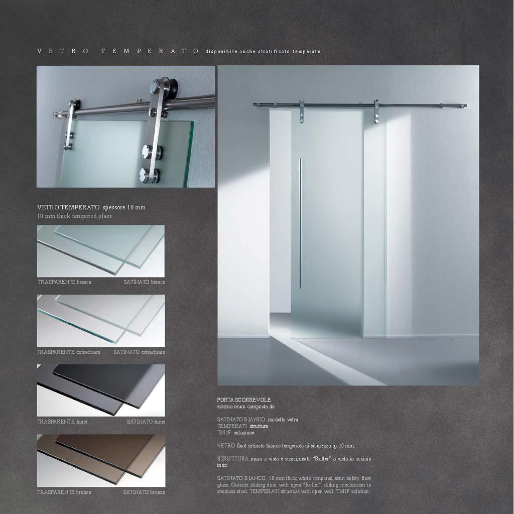 Porta scorrevole con vetro satinato bianco mdbportas - Porta scorrevole vetro satinato ...