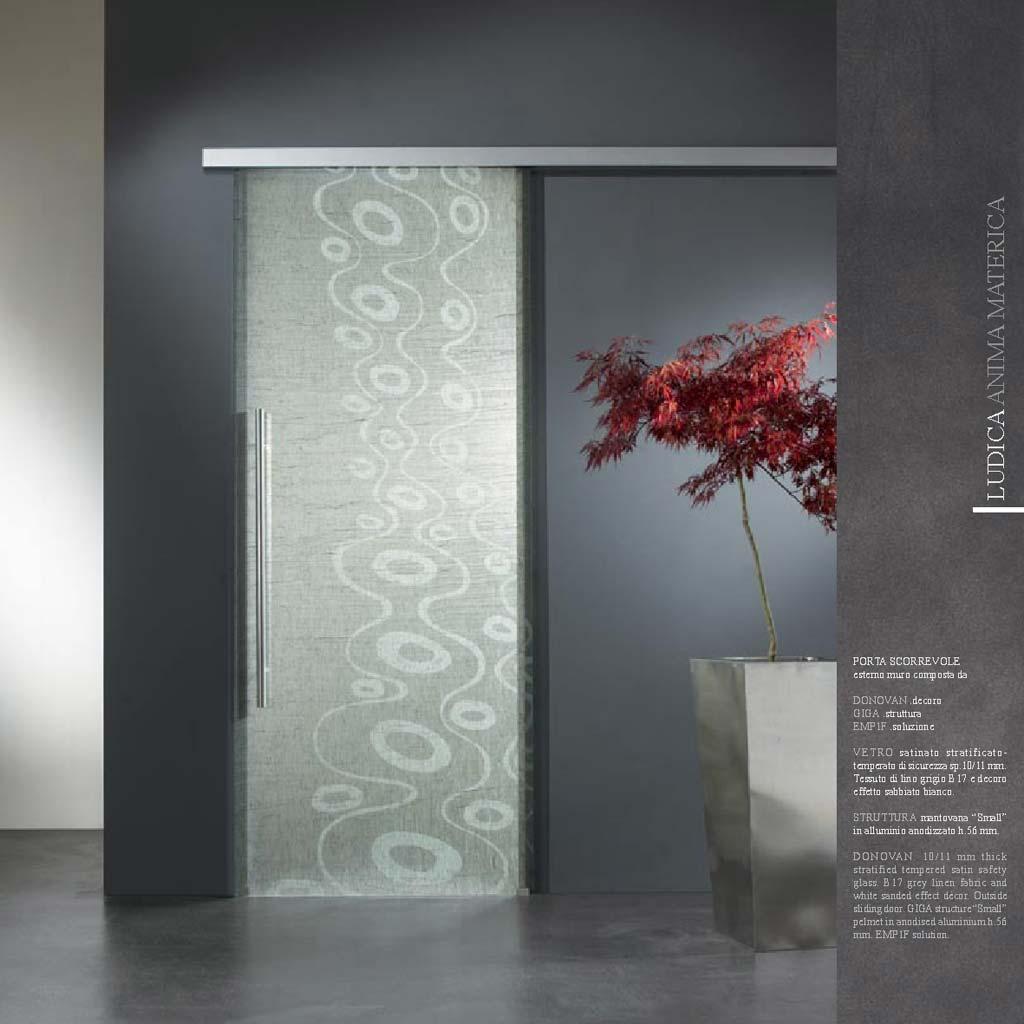 Porta scorrevole decoro Donovan vetro satinato - MdbPortas | MDB Portas