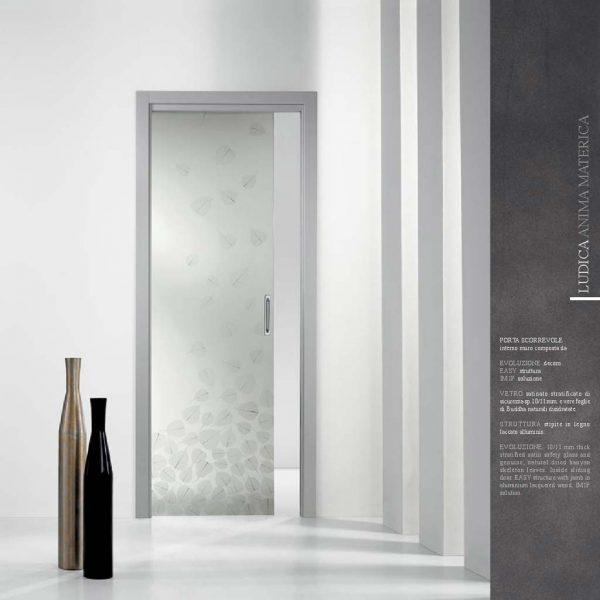 Porte scorrevoli in vetro esterno muro o a scomparsa - Porta scorrevole vetro offerta ...