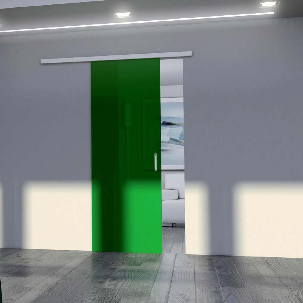 Porta scorrevole vetro verde mdbportas - Porta scorrevole vetro prezzi ...