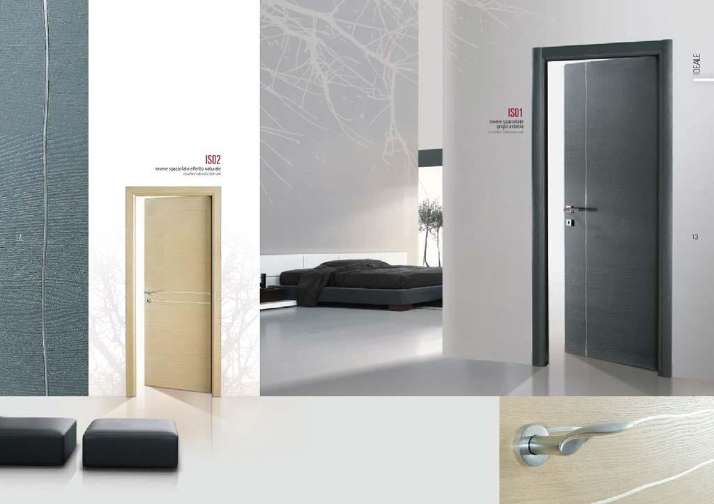 Porta rovere spazzolato ardesia linea verticale mdb portas - Porte interne rovere grigio ...