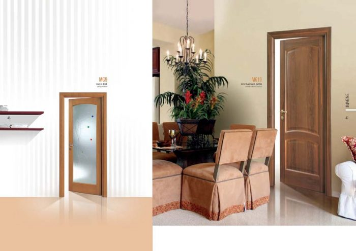 Porta rovere teak vetro con decorazioni colorate mdbportas - Decorazioni porte interne ...