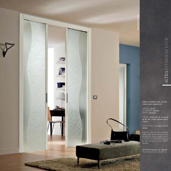 Porte scorrevoli in vetro, esterno muro o a scomparsa