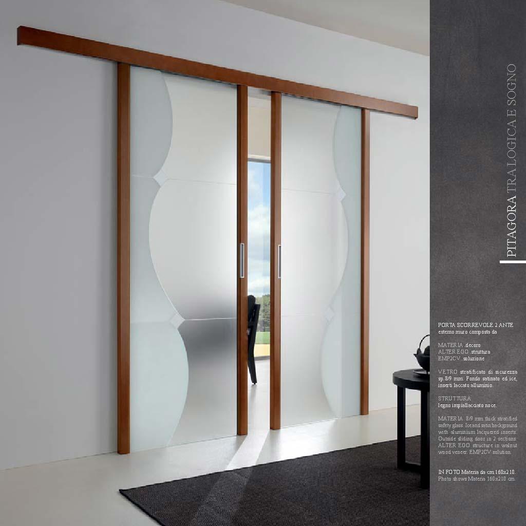 2 ante scorrevoli in vetro da mdb portas nurith novate for Porta scorrevole esterna ikea