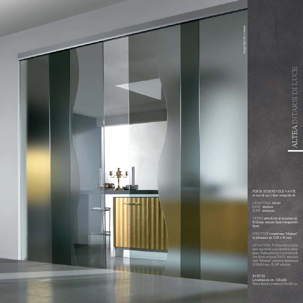 Cucina Con Vetrata Scorrevole porta scorrevole 4 ante levantina con vetro - mdbportas