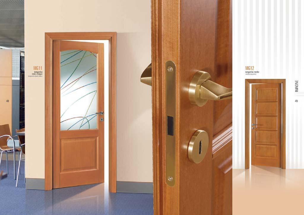 Porta tanganika ciliegio vetro con linee colorate mdbportas - Decorazioni su porte interne ...