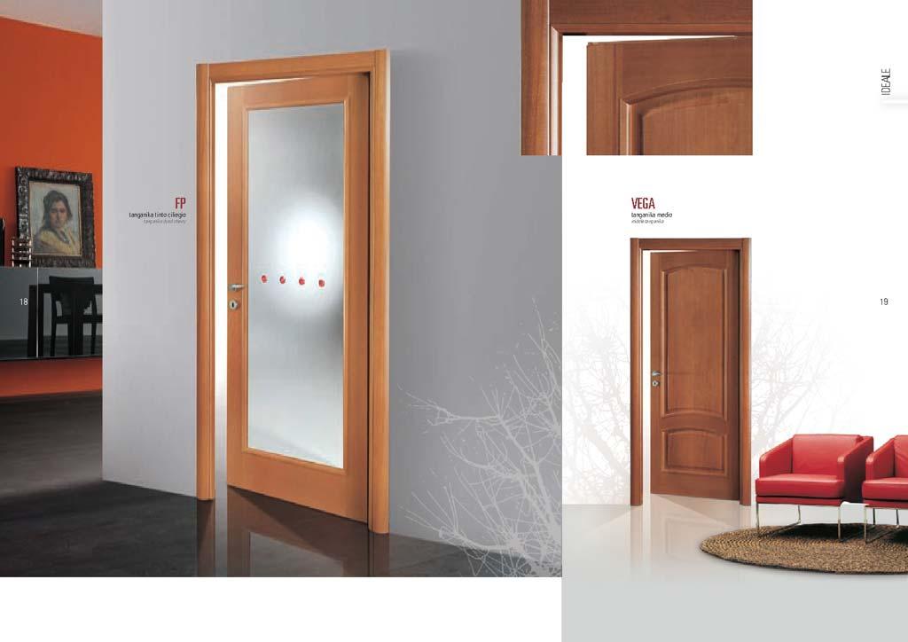 Porta tanganika ciliegio decorazioni punti rossi mdbportas - Decorazioni porte interne ...