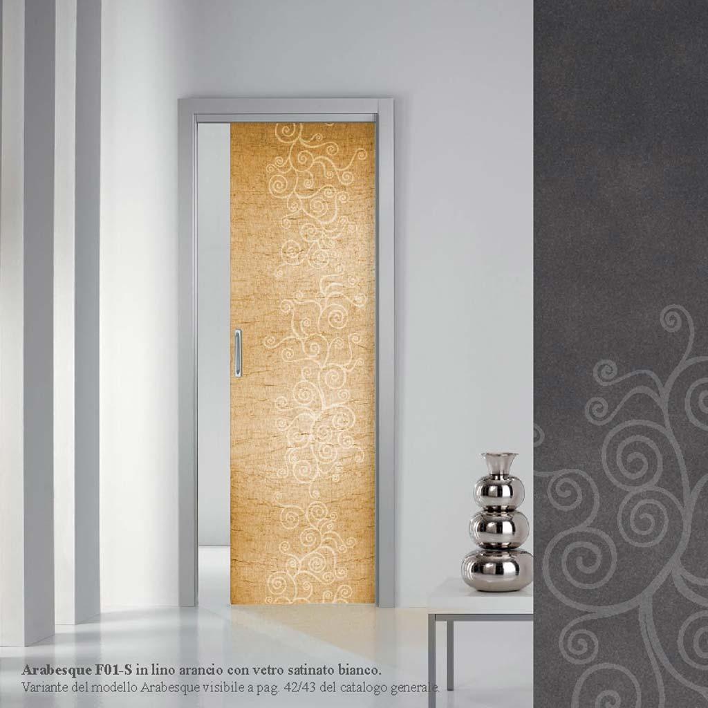 Porta scorrevole interna con vetro satinato bianco mdb - Vetro per porta interna ...
