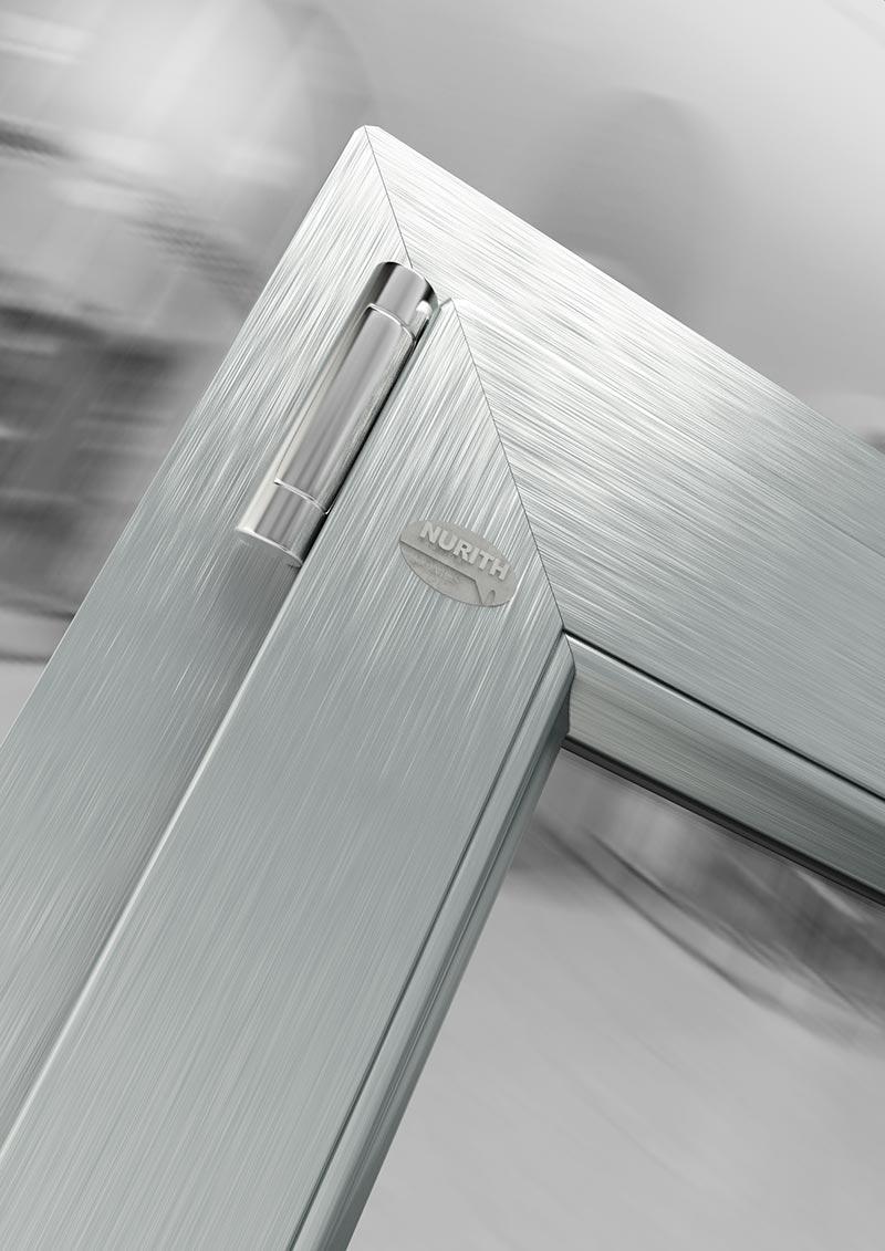 Basic porta finestra pvc a 1 anta 100x220 effetto for Finestre pvc usate