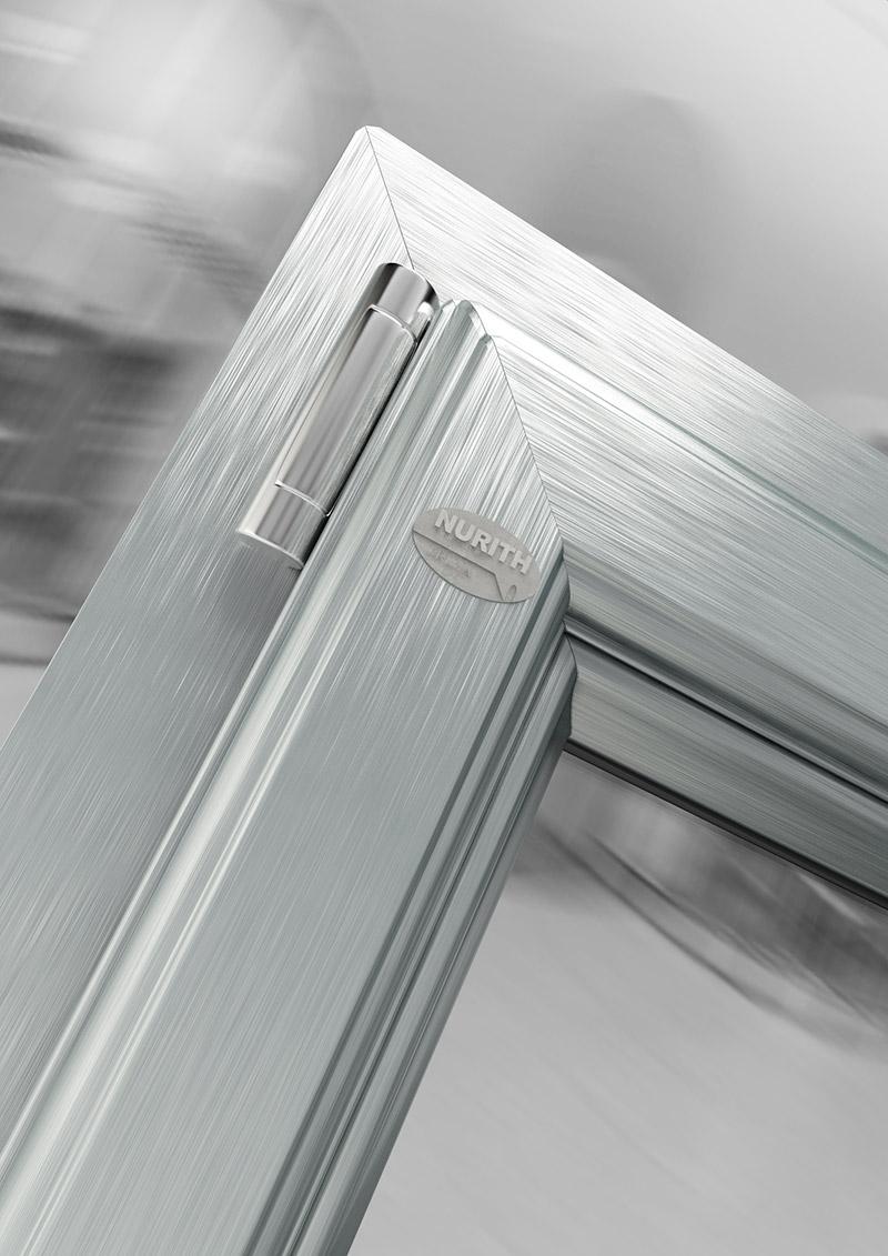 Pr1ma Finestra Pvc A 1 Anta 60x120 Effetto Alluminio
