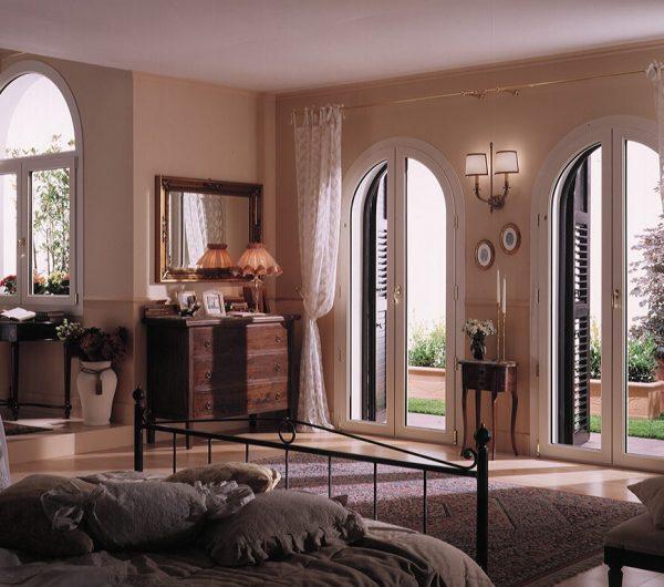 Finestre e porte finestre in pvc ad arco da mdb portas nurith for Porte e finestre pvc