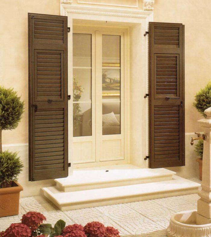 Porta finestra in pvc con pannelli liberty mdb portas nurith milano - Finestre liberty ...