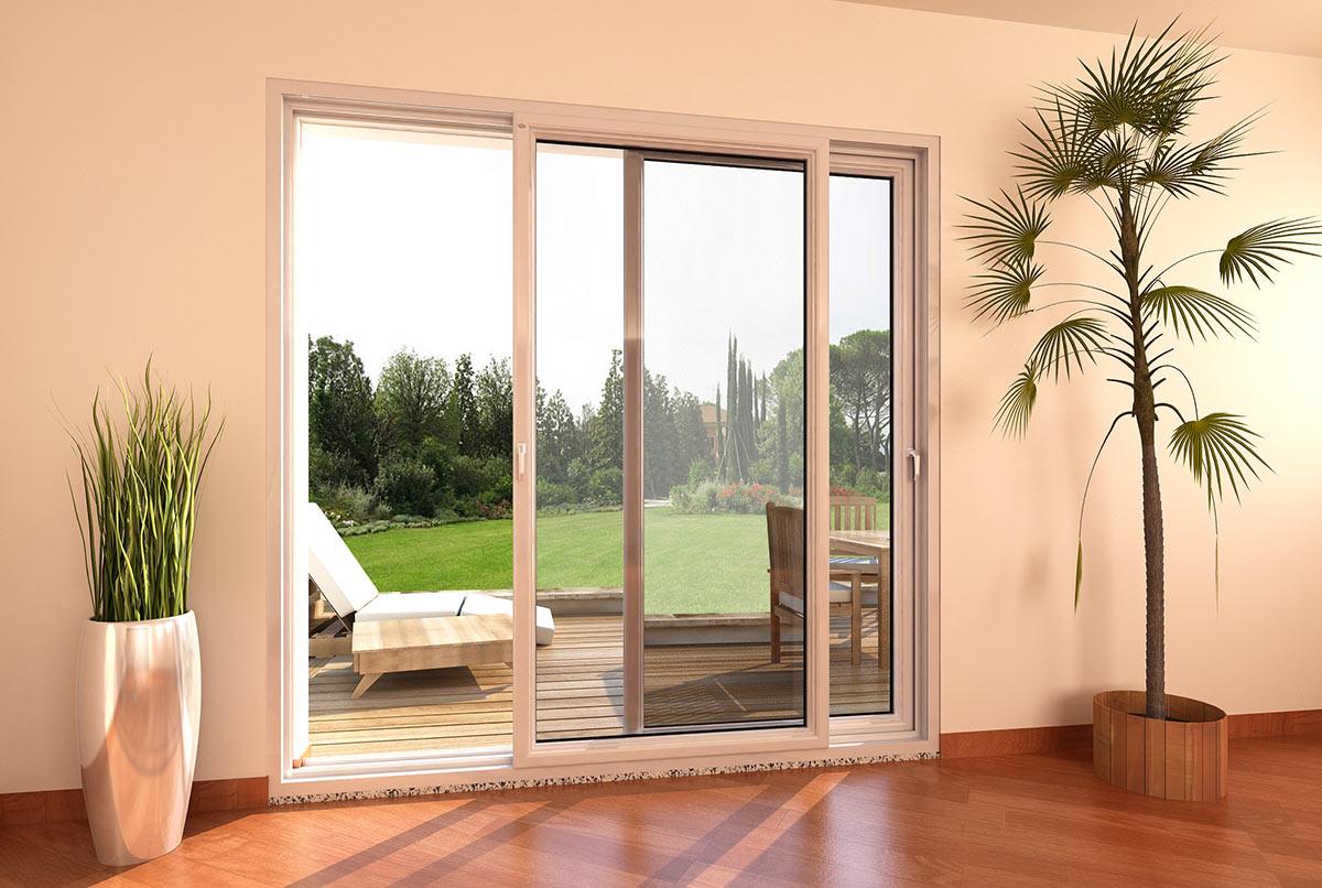 Porta finestra in pvc scorrevole parallelo mdb nurith for Infissi finestre prezzi