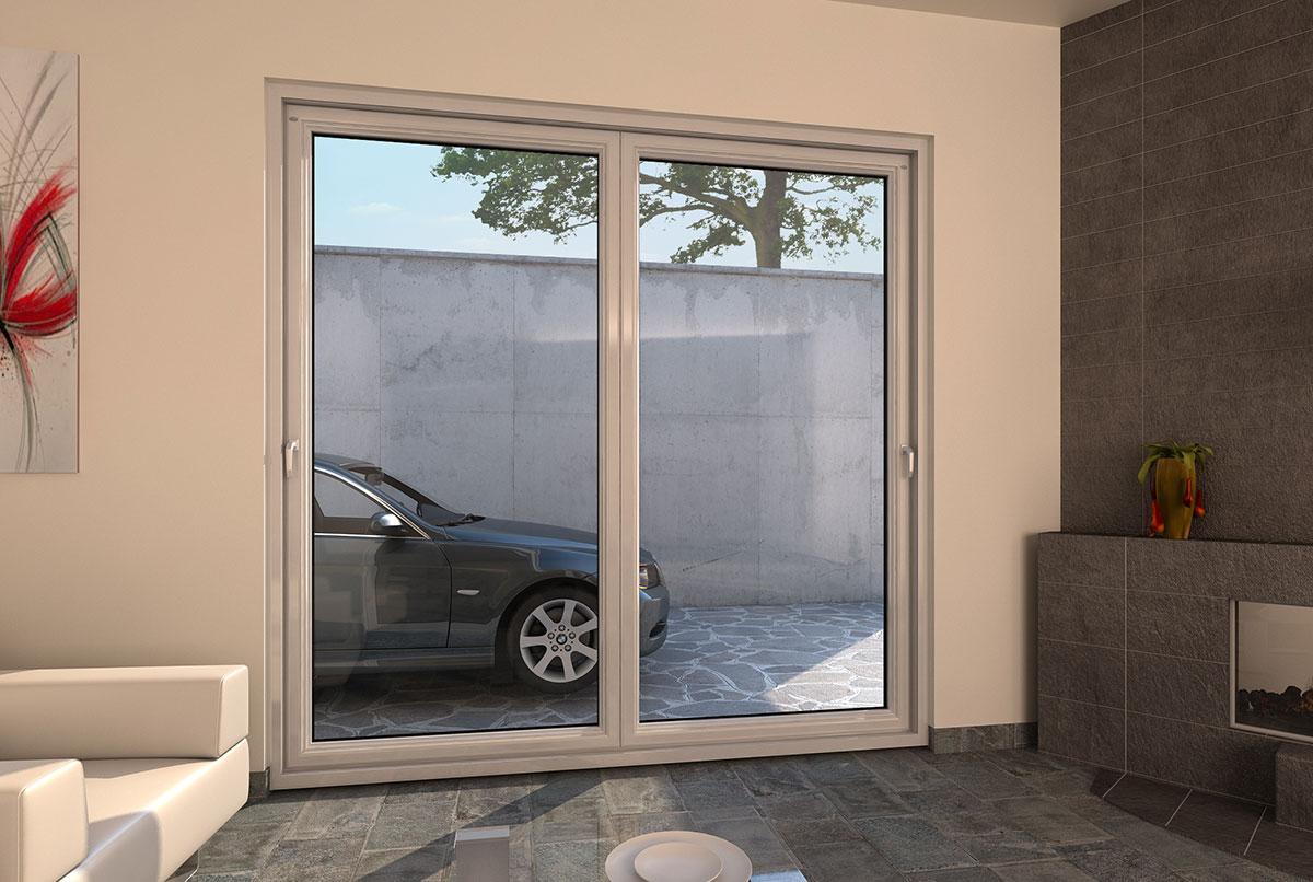 Porte finestre in pvc scorrevoli a libro a pioltello - Finestre scorrevoli in vetro ...