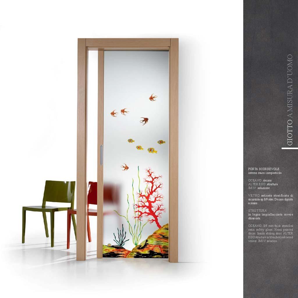 Porta scorrevole oceano legno rovere sbiancato mdbportas - Porte scorrevoli vetro e legno ...